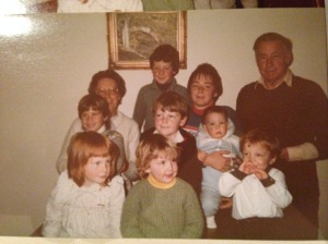 Me and my cousins circa 1983. Oh how I hated that jumper.